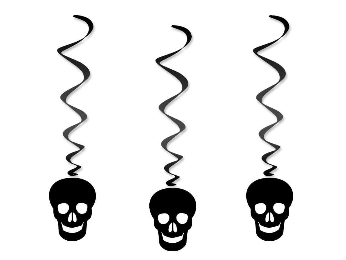 Dekoracja wisząca Czaszki na Halloween - 3 szt.