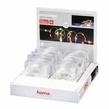 Łańcuch świetlny USB LED, kolorowy, 3 m, 12 szt. w kartonie eksp.