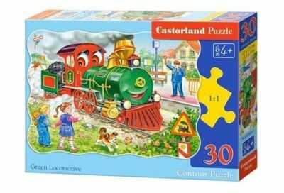 Puzzle Castor 30 - Zielona Lokomotywa, Green Locomotive