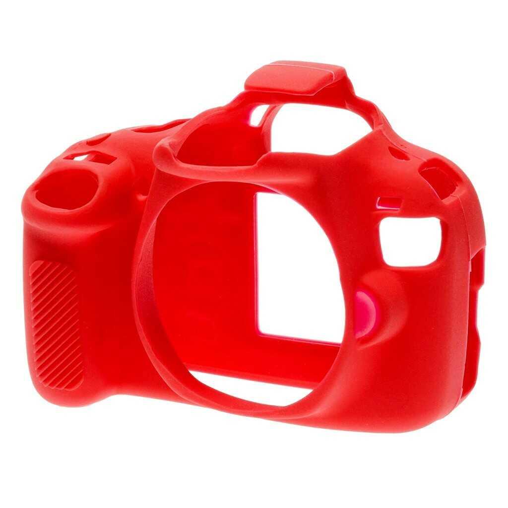 Osłona silikonowa easyCover do aparatów Canon EOS 1200D czerwona