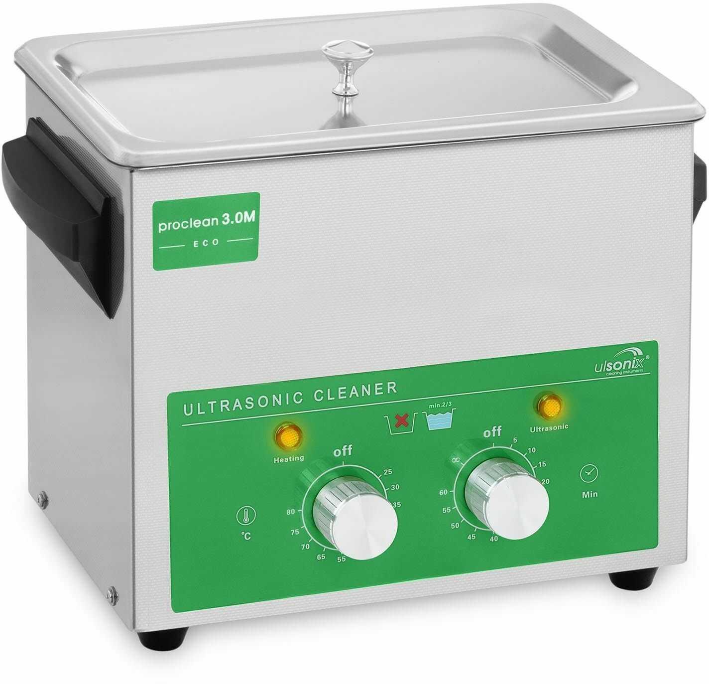 Myjka ultradźwiękowa - 3 litry - 80 W - Basic Eco - ulsonix - PROCLEAN 3.0M ECO - 3 lata gwarancji/wysyłka w 24h