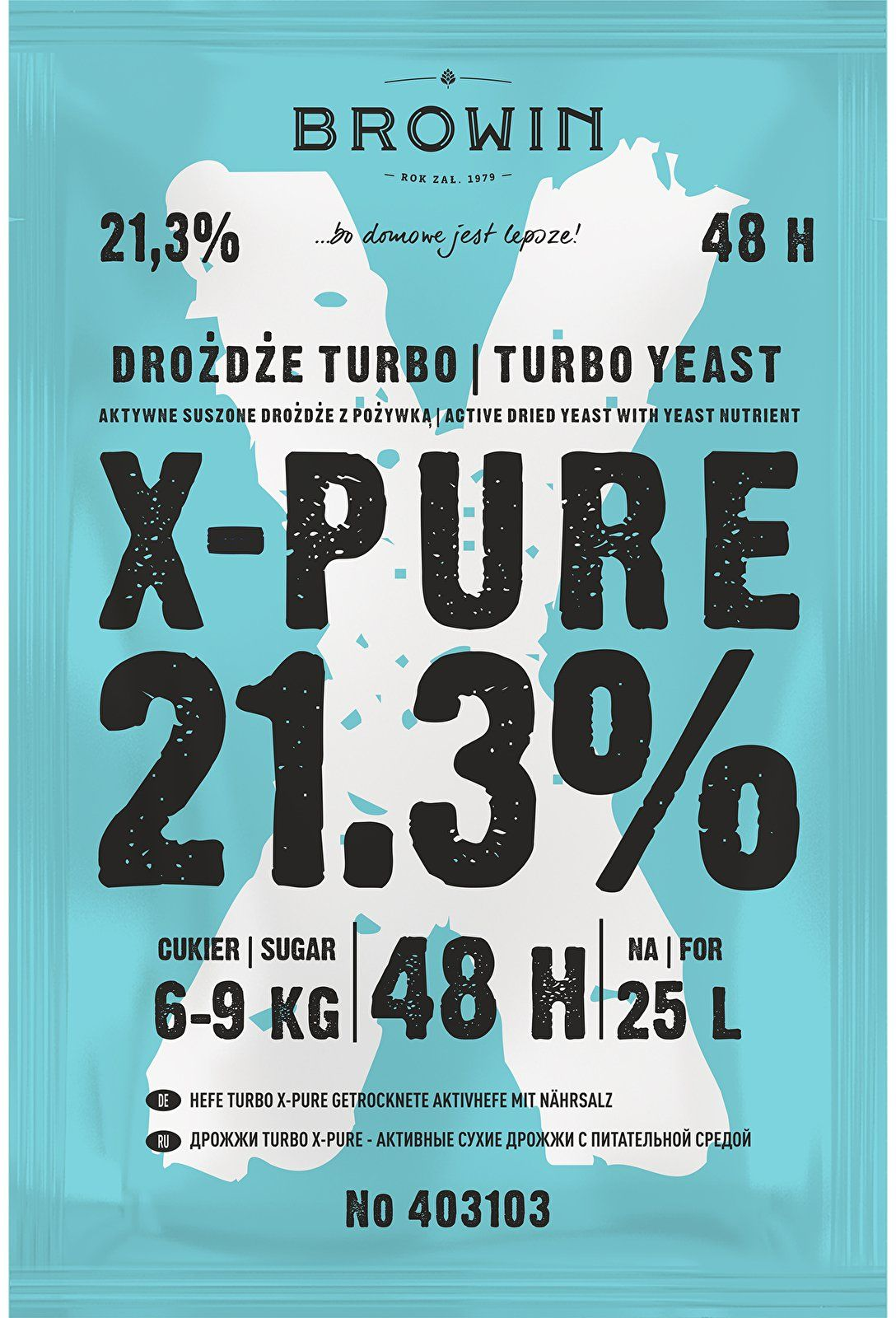 Drożdże Turbo X-Pure 21,3% 48h - 135g
