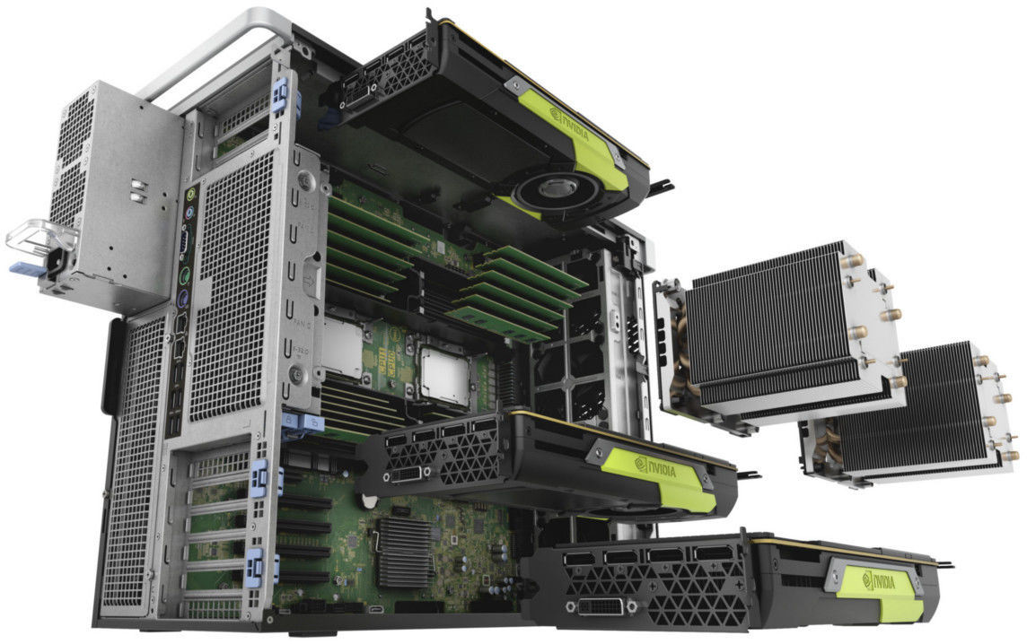 Komputer DELL Precision T5820 Xeon W-2123 16GB 1TB Radeon WX5100 DVD vPro W10Pro 3YNBD