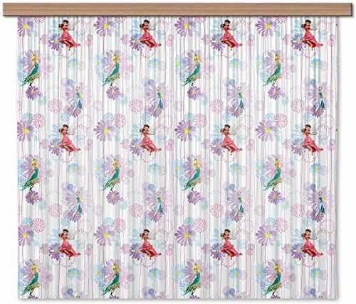 AG Design Disney Fairies wróżki do pokoju dziecięcego, firanka/zasłona, tkanina, wielokolorowa, 180 x 160 cm, 2