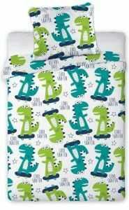 Pościel bawełniana do łóżeczka 100x135 Dinozaury Baby
