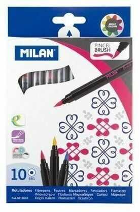 Flamastry z pędzelkiem 10 kolorów MILAN