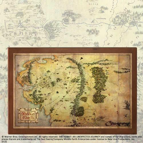 Mapa Śródziemia z filmu Hobbit Noble Collection