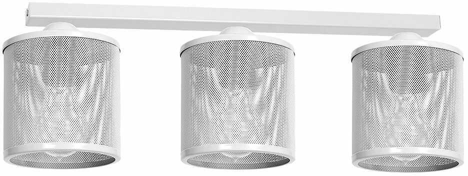Milagro LOUISE WHITE MLP655 plafon lampa sufitowa klosz metalowa siatka biała 3xE27 64cm