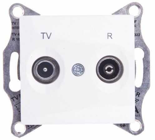 Sedna Gniazdo antenowe RTV przelotowe kremowy SDN3301823