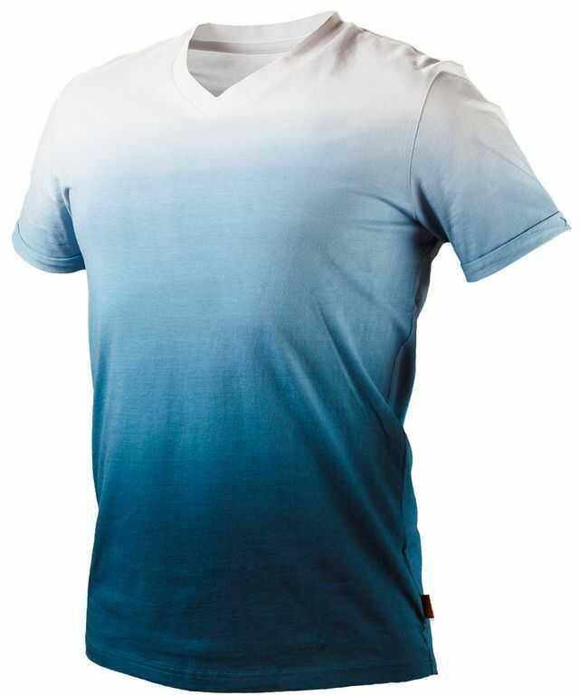 Koszulka T-shirt cieniowany bawełna DENIM rozmiar XL 81-602-XL