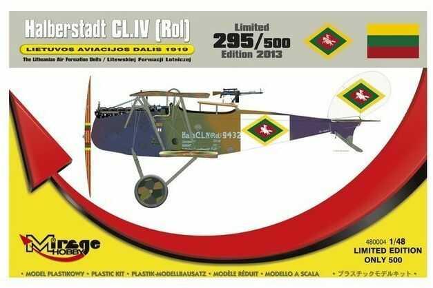 Samolot Halberstadt CL.IV Litewska Formacja model do sklejania Mirage Hobby