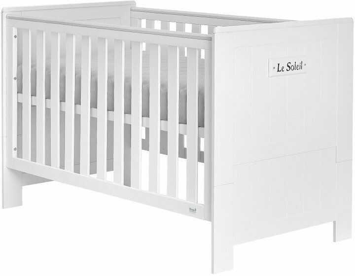 Białe łóżeczko tapczanik 140x70 Blanco Pinio Marsylia MDF