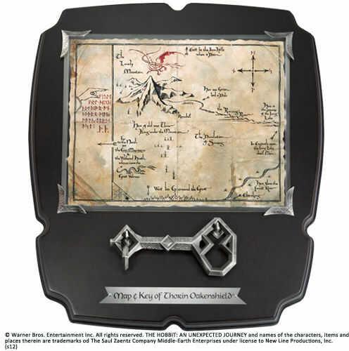 Klucz i Mapa Thorina z filmu Hobbit - Deluxe - Noble Collection