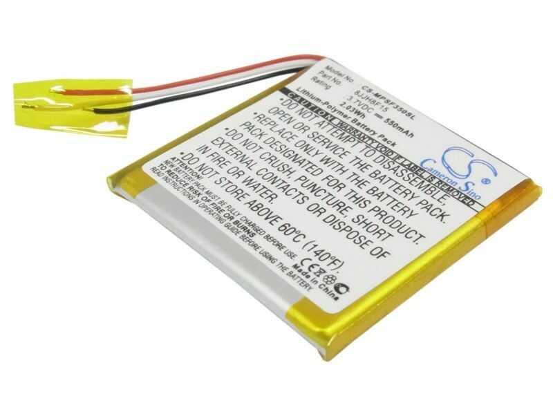 SanDisk Sansa Fuze 4GB / 8JJH8F15 550mAh 2.04Wh Li-Polymer 3.7V (Cameron Sino)