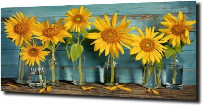 obraz na szkle, panel szklany Słonecznik 85