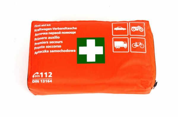 Apteczka samochodowa pierwszej pomocy din 13164