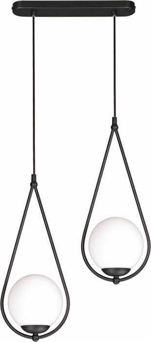 Czarna podwójna lampa wisząca nad stół - S053-Drima