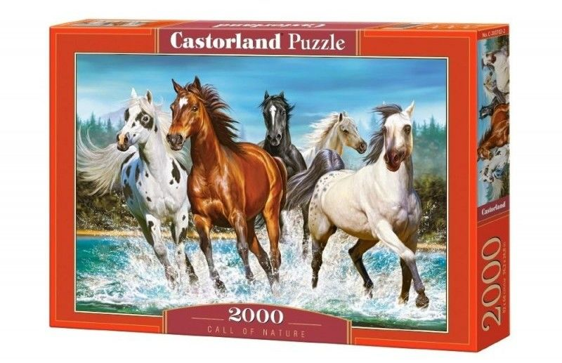 Puzzle Castorland 2000 - Konie nad wodą, Call of Nature