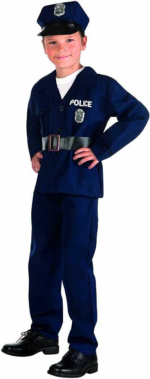 Boland 82185 - kostium dziecięcy policjant, niebieski, rozmiar 140