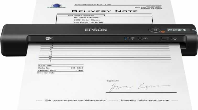 Skaner EPSON WorkForce ES-60W (B11B253401)