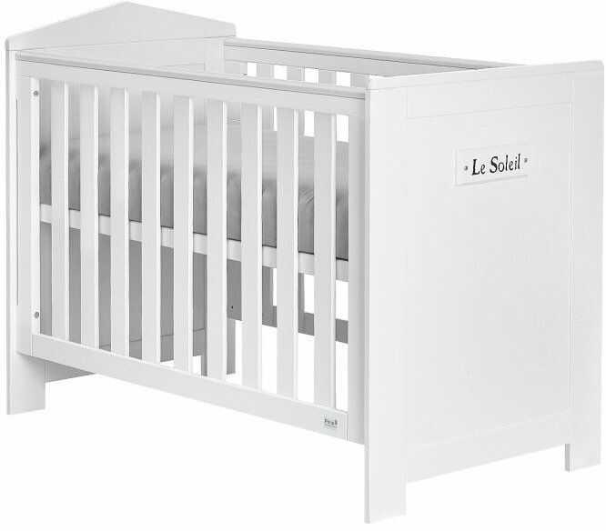 Białe łóżeczko 120x60 Pinio Marsylia MDF