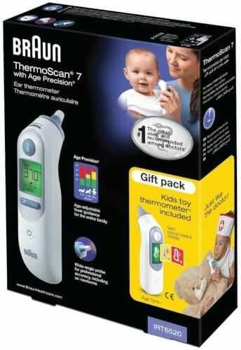 Braun Thermoscan 7 IRT6520 termometr elektroniczny do ucha + termometr zabawka dla dzieci 1 sztuka
