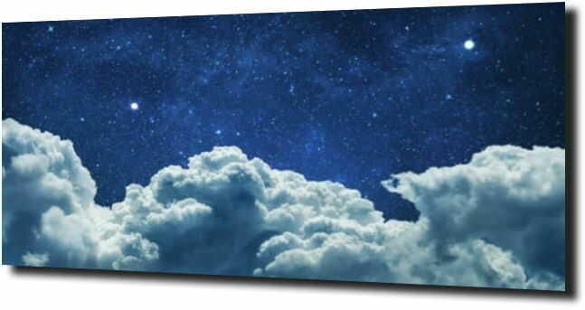 obraz na szkle Chmury, niebo, gwiazdy,niebo