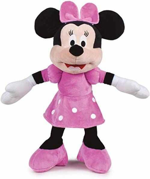 Play by Play Pluszowe zwierzątko Minnie Myszka Supermiękkie pluszowe zwierzątko Minnie 42 cm / 54 cm z uszami, pluszowe zwierzątko dla dziewcząt, różowy Disney Junior