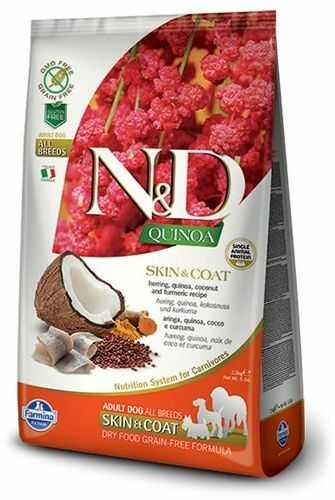 Farmina N&D Quinoa Skin & Coat Herring Adult Dog - karma z komosą i śledziem dla dorosłych psów