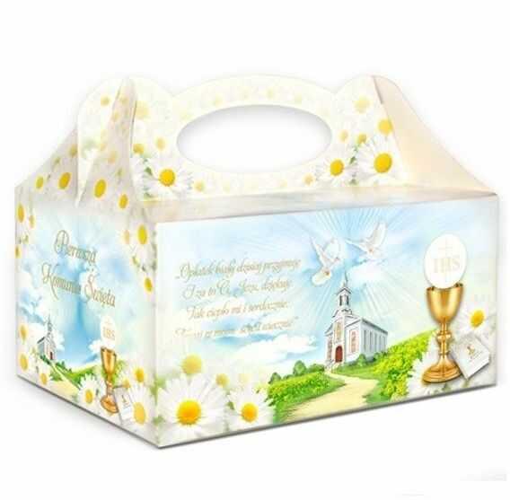 Pudełko na ciasto komunijne PUDKW