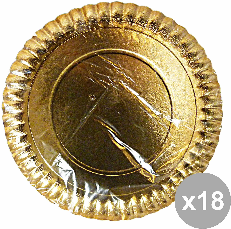Zestaw 18 talerzy na tort papierowych okrągłych złotych średnica 36 cm. * 2 sztuki 63110 narzędzie do luzowania pojemnik do kuchni