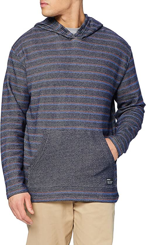 Hurley Mens M Modern Surf Poncho Stripe T-Shirt, obsydian, L