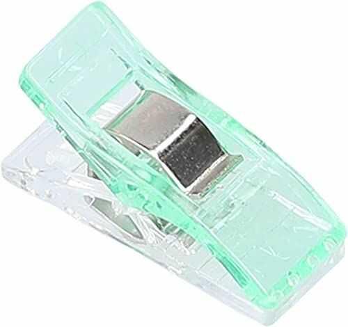 mumbi 30711 klamerki do materiału, tworzywo sztuczne, zielone, 50 sztuk