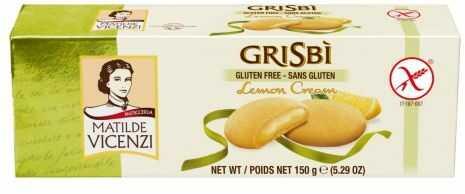 Ciastka Grisbi Cytryna Bezglutenowe Lemon Cream 150g
