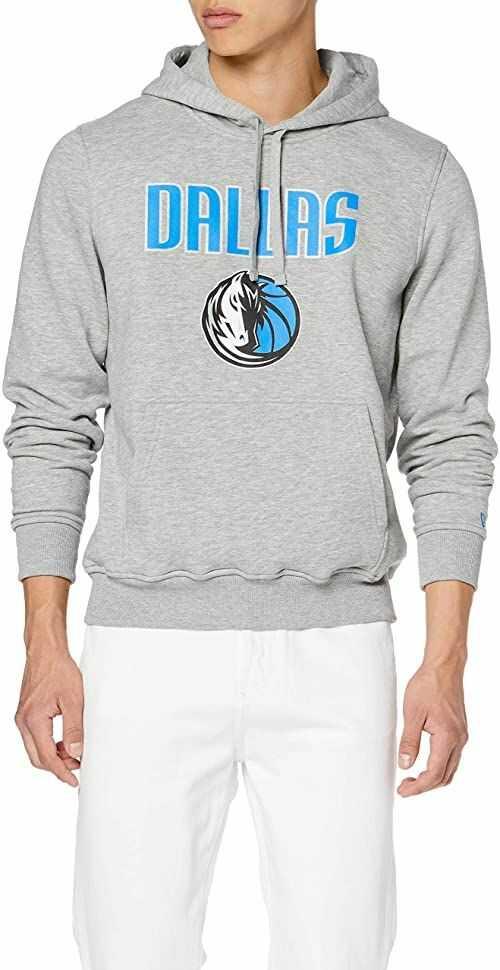 New Era Męska bluza z kapturem Boston Celtics, szara, XS/S, 11546182