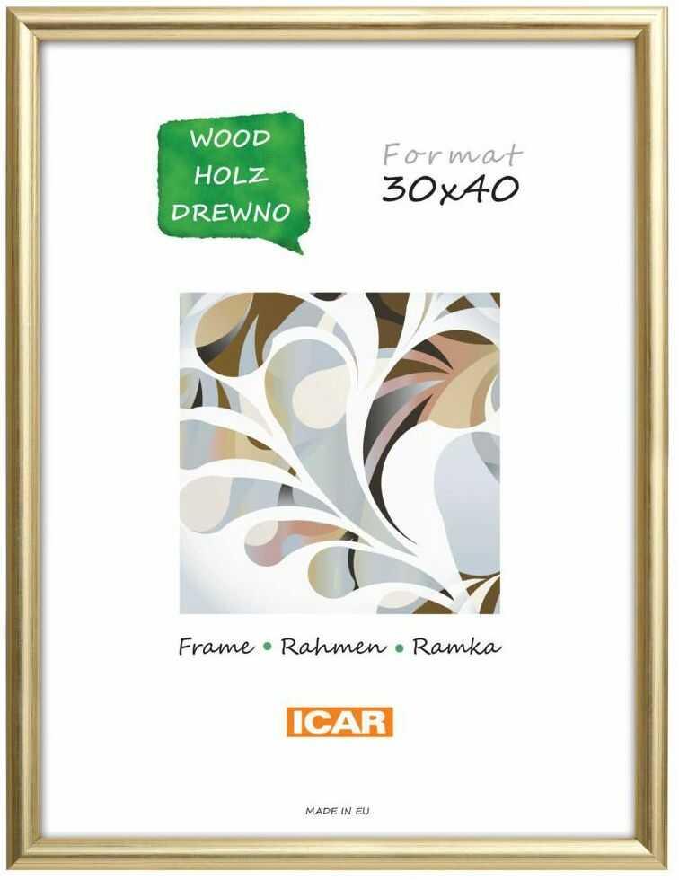 Ramka na zdjęcia Dri Hit 30 x 40 cm złota drewniana