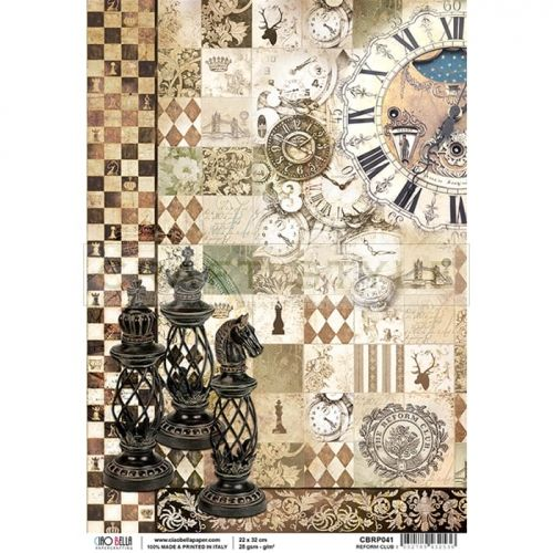 CBRP041 Voyages Extraordinaires Collection - papier ryżowy A4