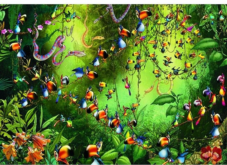 Puzzle Piatnik 1000 - Ruyer, Tukany w dżungli
