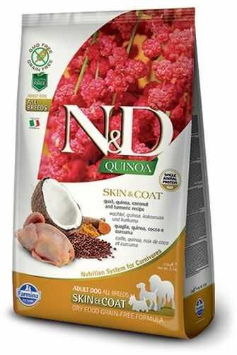 Farmina N&D Quinoa Skin & Coat Quail Adult Dog - karma z komosą i przepiórką dla dorosłych psów