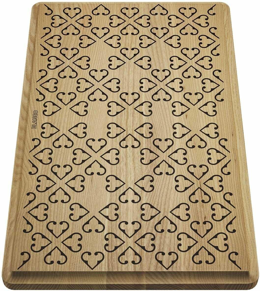 BLANCO Deska drewniana jesion z ornamentem, 465x285, [FARON XL 6 S] 237591 Płać mniej za zakupy u nas - (22)266 82 20 Zapraszamy :)