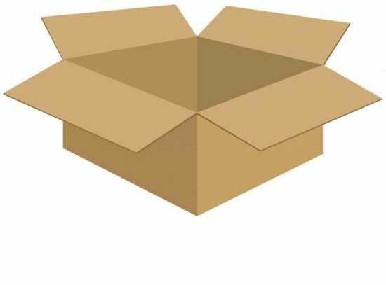 Karton klapowy tekt 3 - 390 x 350 x 165 520g/m2 fala C