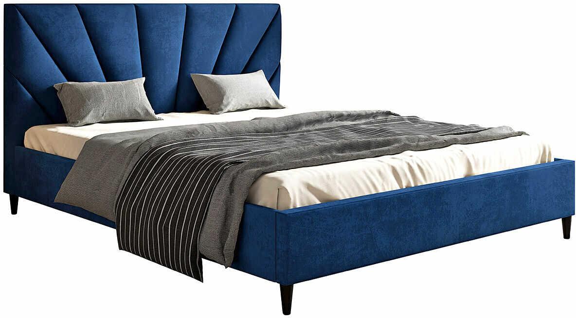 Tapicerowane łóżko małżeńskie 160x200 Marina - 48 kolorów
