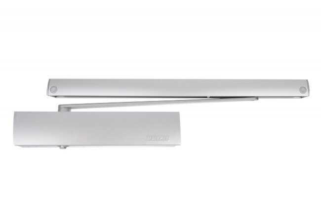 Samozamykacz TS5000 Ecline z szyną Ecline i z blokadą Ecline srebrny