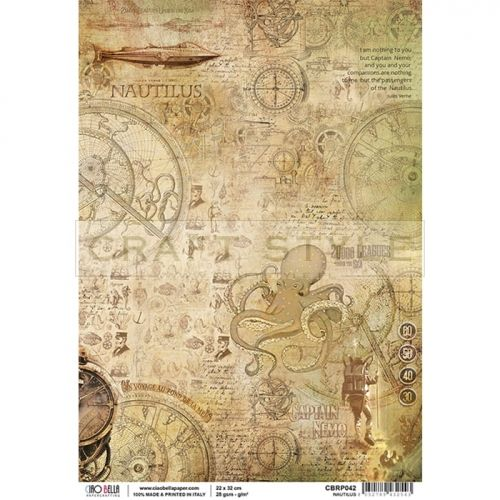 CBRP042 Voyages Extraordinaires Collection - papier ryżowy A4