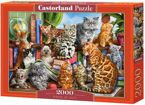 Puzzle Castorland 2000 - Koci dom, House of Cats