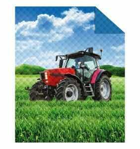 Narzuta do pokoju dziecięcego 170x210 cm traktor ciągnik