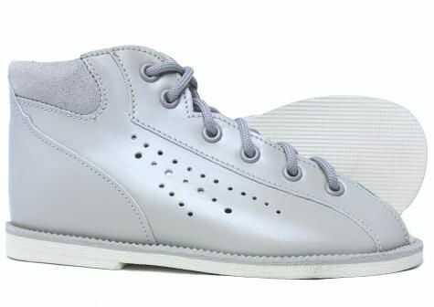 POSTĘP buty kapcie sandałki profilaktyczne z obcasem Thomasa BP 38 M / jasny popiel