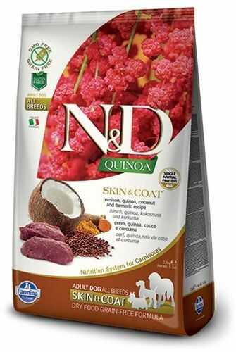Farmina N&D Quinoa Skin & Coat Venison Adult Dog - karma z komosą i dziczyzną dla dorosłych psów