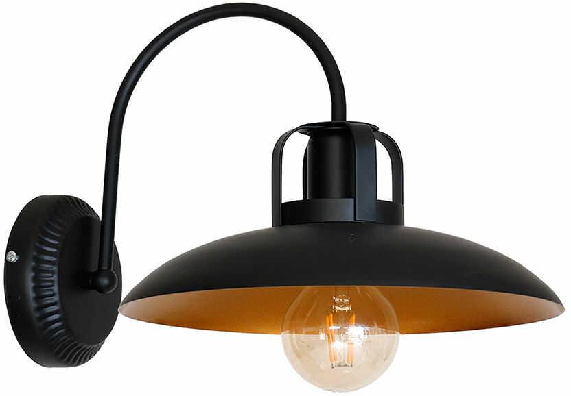 Milagro FELIX MLP3681 kinkiet lampa ścienna metal wnętrze klosza w kolorze starego złota 1xE27 30cm