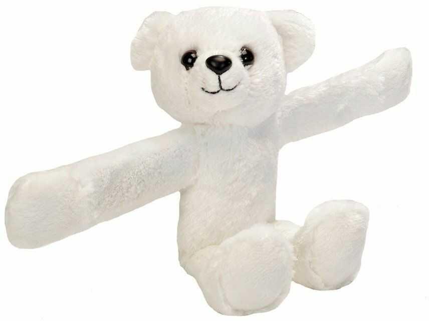 Wild Republic 19559 pluszowe zwierzątko z bransoletką, niedźwiedź polarny